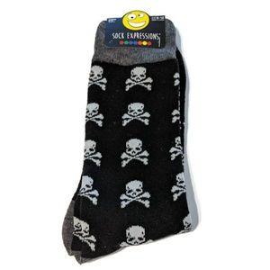 3/$25Mens Skull Crossbones Goth Pirate Socks